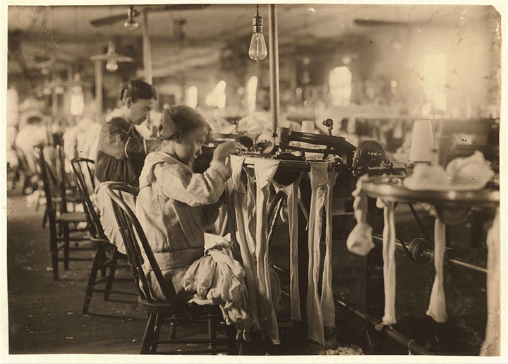 11 year old girl working at Crescent Hosiery Mill-20 Photographs Showing The Child Labor Conditions In Early Twentieth Century-2