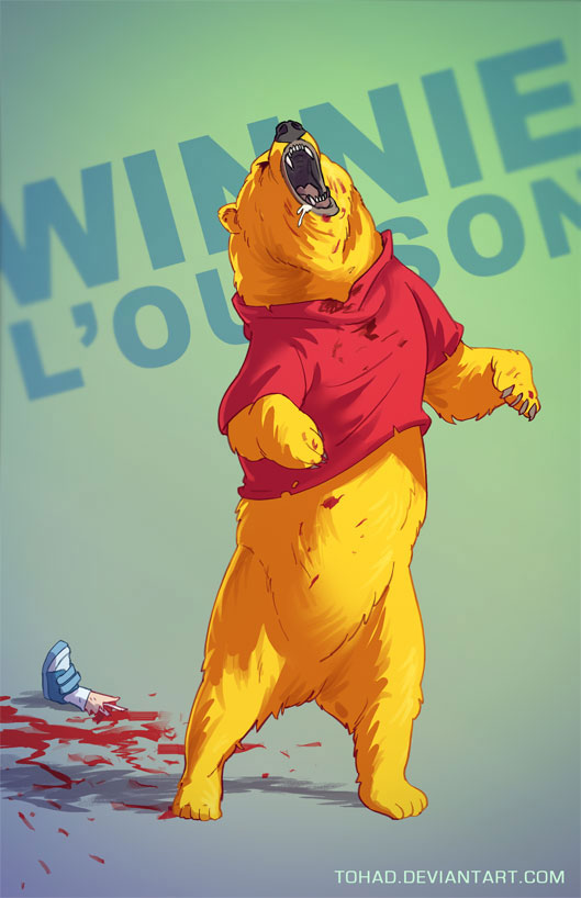 Winnie the Pooh-Sylvain redraws your childhood super heroes to reveal their dark side-1