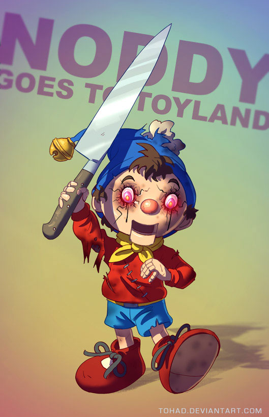 Noddy-Sylvain redraws your childhood super heroes to reveal their dark side-11
