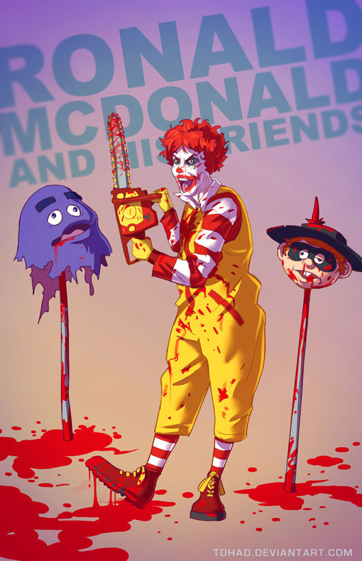 Ronald McDonald-Sylvain redraws your childhood super heroes to reveal their dark side-4