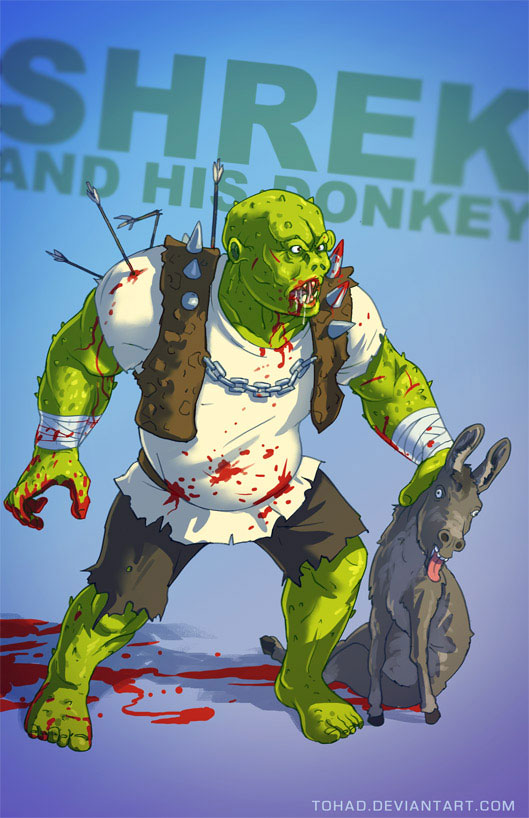 Shrek-Sylvain redraws your childhood super heroes to reveal their dark side-6