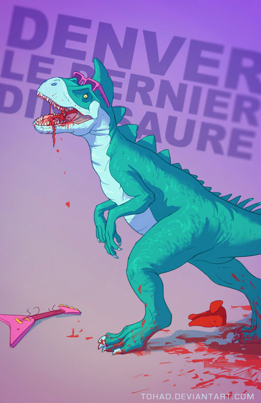 Denver the Last Dinosaur-Sylvain redraws your childhood super heroes to reveal their dark side-7