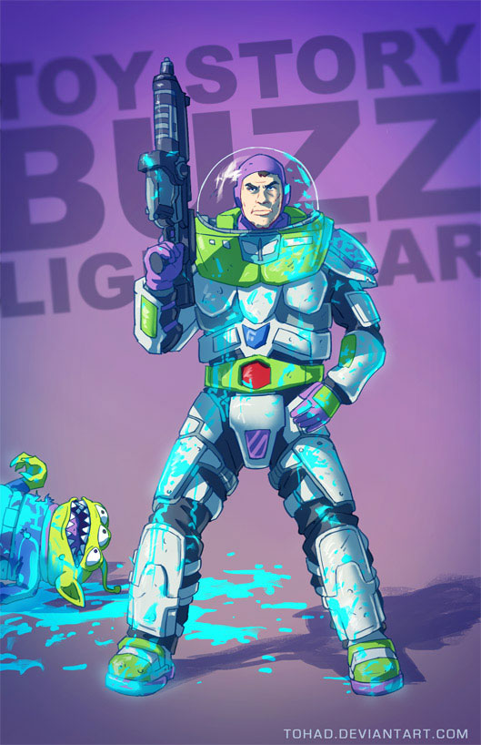 Buzz Lightyear-Sylvain redraws your childhood super heroes to reveal their dark side-8
