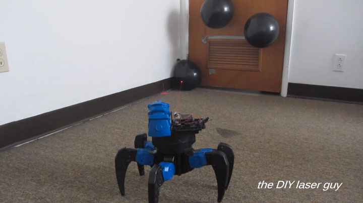 A Hobbyists Make A Drone Bot By Fitting A Robot With Death Ray Laser-