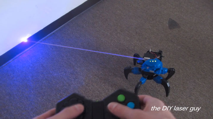 A Hobbyists Make A Drone Bot By Fitting A Robot With Death Ray Laser-4
