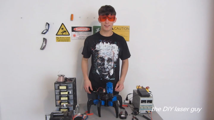 A Hobbyists Make A Drone Bot By Fitting A Robot With Death Ray Laser-5