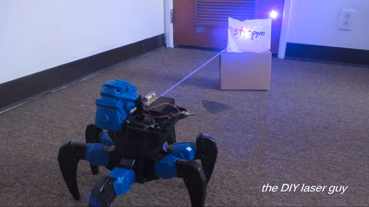 A Hobbyists Make A Drone Bot By Fitting A Robot With Death Ray Laser-6