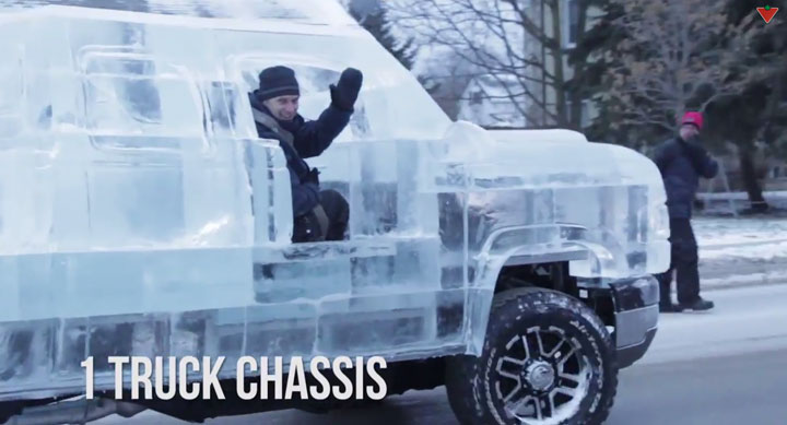 Embark On A Truck Made From Carved Ice -Canadian Tire-2