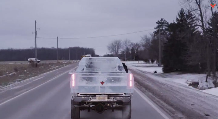 Embark On A Truck Made From Carved Ice -Canadian Tire-3