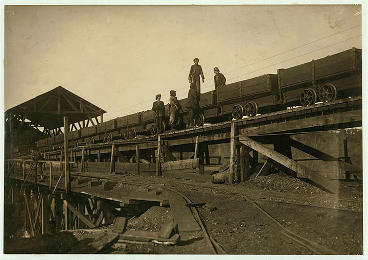 Miner children in Bessie, Alabama-Child labour USA-