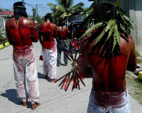 Self Flagellation Christians Philippines-Good Friday