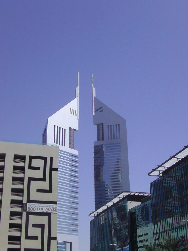 Emirates Tower One (left) - United Arab Emirates -The Top 10 Most Useless Skyscrapers Buildings Of The World-5