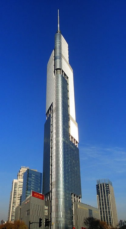 Zifeng Tower in Nanjing - China -The Top 10 Most Useless Skyscrapers Buildings Of The World-7