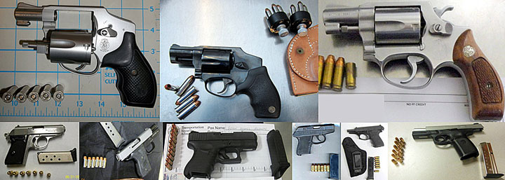 Firearms-Unusual Types Of Arms Captured At The U.S. Airports-
