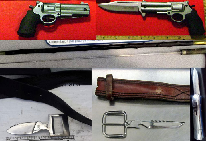Belt buckle knives-Unusual Types Of Arms Captured At The U.S. Airports-5