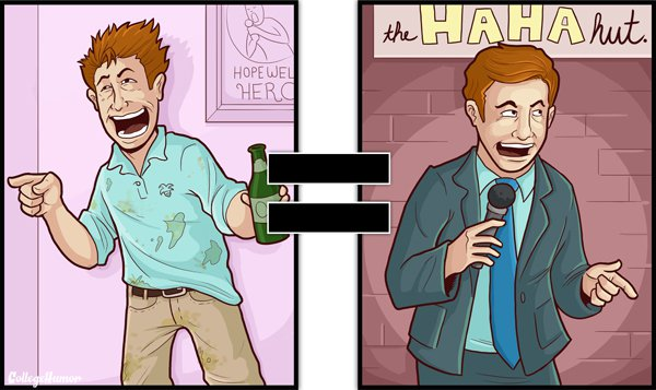 your jokes are funniest in world-Series Of Hilarious Illustrations Shows How Alcohol Impairs Your Judgment-1