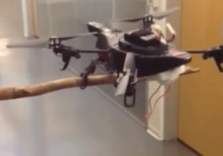 A New Robotic Leg Enables Drones To Perch For Spying Missions-