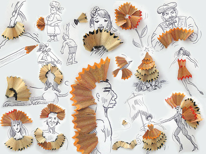 Portugese artist creates Amazing Artworks Created Using Just A Pen And Everyday Objects-14