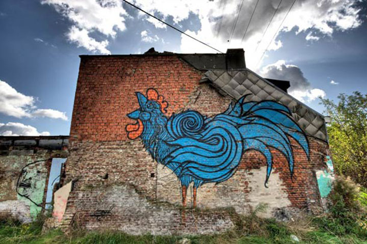 An Abandoned Flemish City Becomes A Giant Canvas Dedicated To Street Art (Photo Gallery)-16