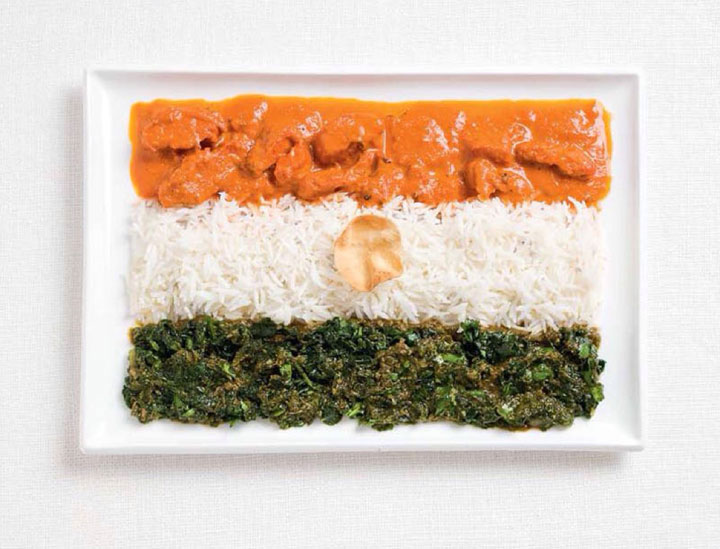 India-18 Appetizing National Flags Made Using Their Delicious Food Dishes-