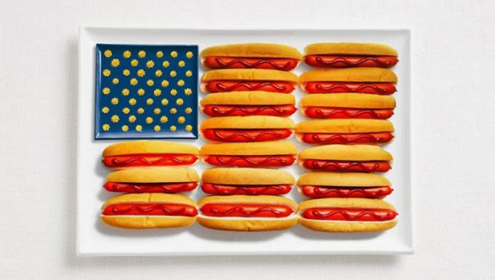 USA-18 Appetizing National Flags Made Using Their Delicious Food Dishes-11