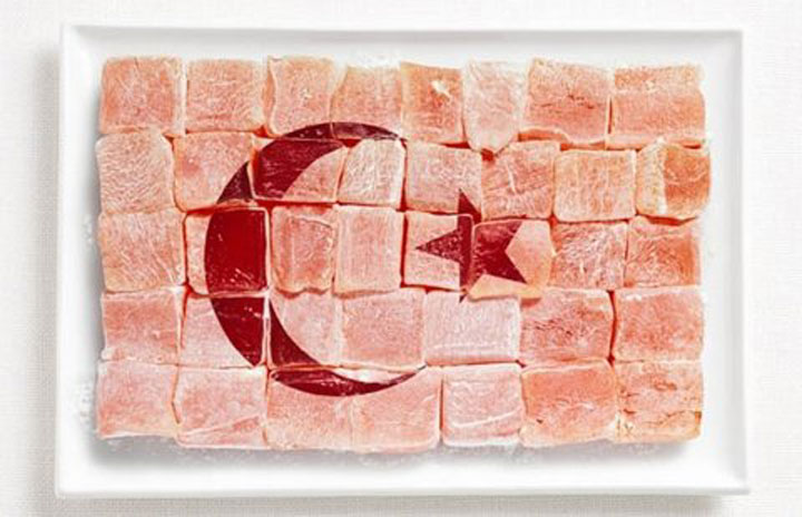 Turkey-18 Appetizing National Flags Made Using Their Delicious Food Dishes-16