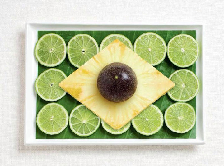 Brazil-18 Appetizing National Flags Made Using Their Delicious Food Dishes-3