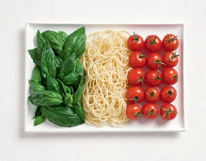 Italy-18 Appetizing National Flags Made Using Their Delicious Food Dishes-4