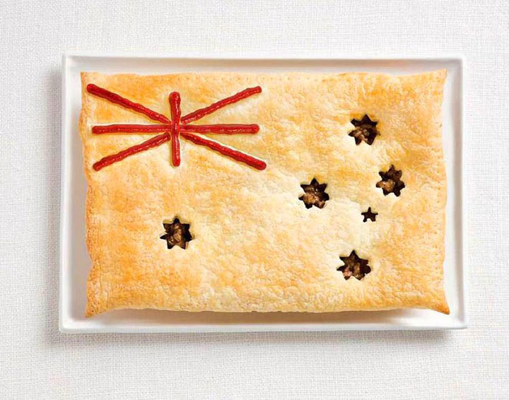 Australia-18 Appetizing National Flags Made Using Their Delicious Food Dishes-7