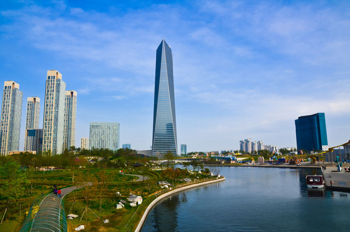 Songdo - South Korea-Atypical architecturaly exotic Cities-24