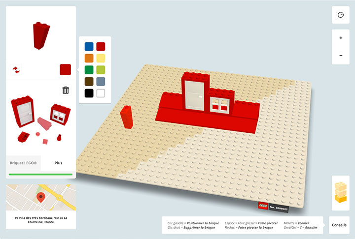 Build with chrome app enables you to build virtual lego for House construction app