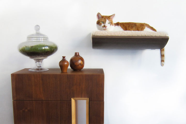 The cat shelves-Furniture Designs To Make Your Apartment An Animal paradise-12