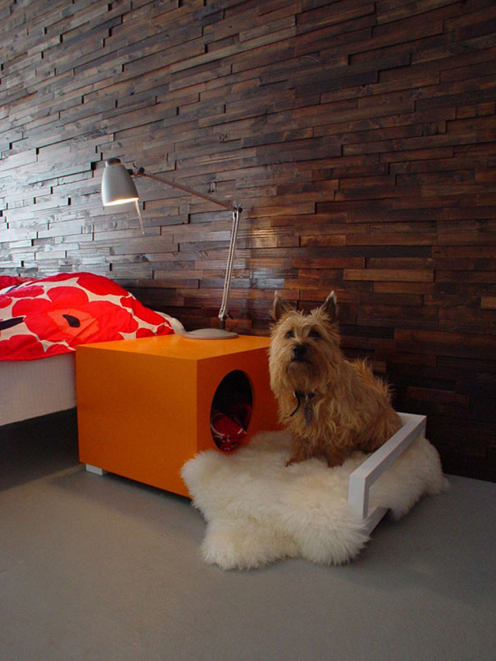 The bedside table as a doghouse-Furniture Designs To Make Your Apartment An Animal paradise-22