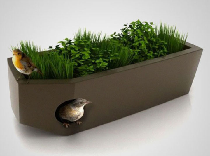 Flower pots that are also animal shelters-Furniture Designs To Make Your Apartment An Animal paradise-23