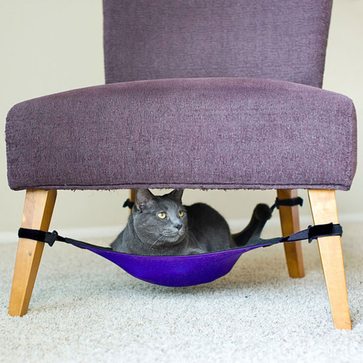 The hammock chair for cat-Furniture Designs To Make Your Apartment An Animal paradise-25