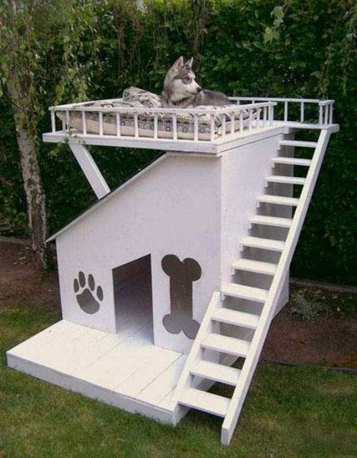 A miniature dog house-Furniture Designs To Make Your Apartment An Animal paradise-26
