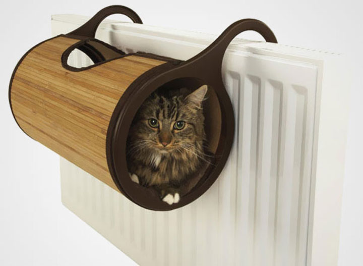 A suspension radiator cat bed-Furniture Designs To Make Your Apartment An Animal paradise-28
