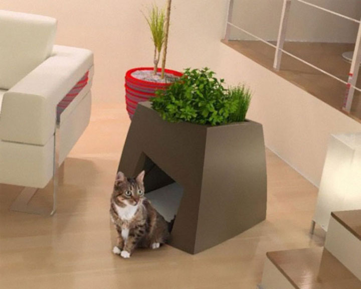 Flower pots that are also animal shelters-Furniture Designs To Make Your Apartment An Animal paradise-31