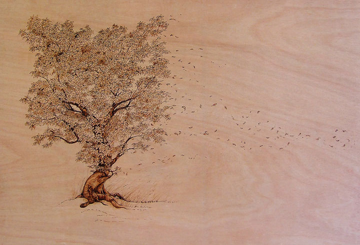 PYROGRAPHY: Impressive Portraits Of Nature Realized By The Careful Burning Of Wood -