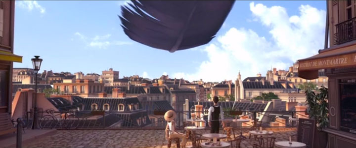 Douce Menace: An Animated Film In Which City Of Paris Is Destroyed By A Giant Pigeon-10