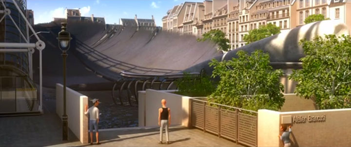 Douce Menace: An Animated Film In Which City Of Paris Is Destroyed By A Giant Pigeon-13