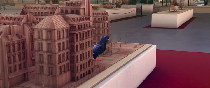 Douce Menace: An Animated Film In Which City Of Paris Is Destroyed By A Giant Pigeon-2
