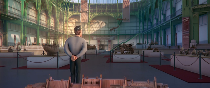 Douce Menace: An Animated Film In Which City Of Paris Is Destroyed By A Giant Pigeon-4