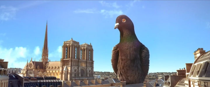 Douce Menace: An Animated Film In Which City Of Paris Is Destroyed By A Giant Pigeon-8