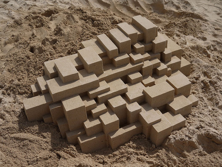 Geometric Sand Castles That Are True Architectural Masterpieces -1