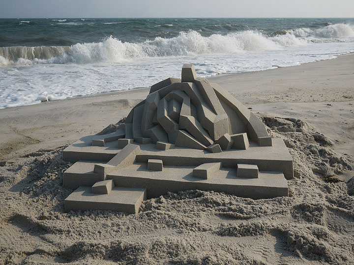 Geometric Sand Castles That Are True Architectural Masterpieces -19
