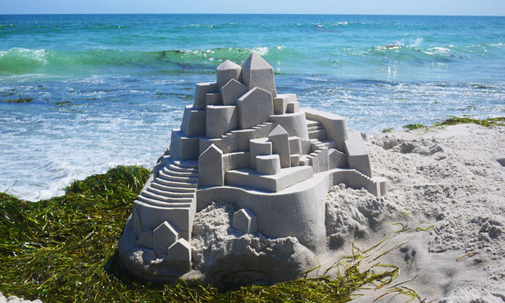 Geometric Sand Castles That Are True Architectural Masterpieces -5