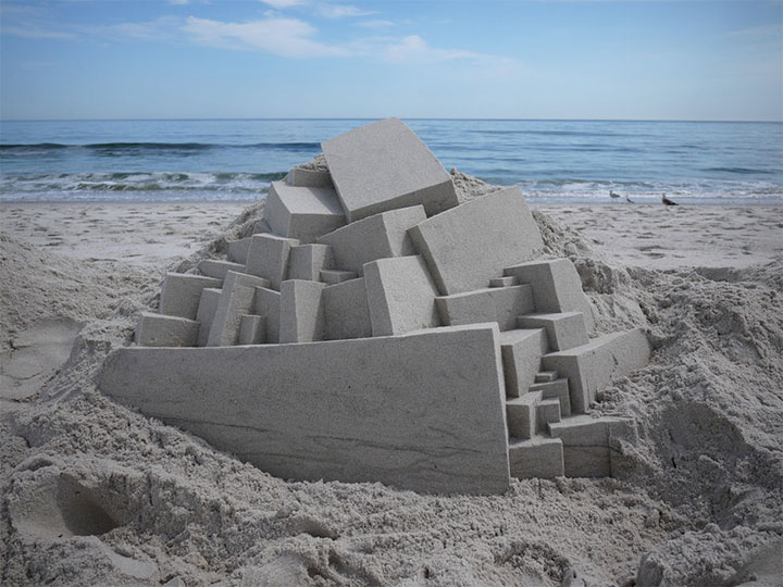 Geometric Sand Castles That Are True Architectural Masterpieces -7