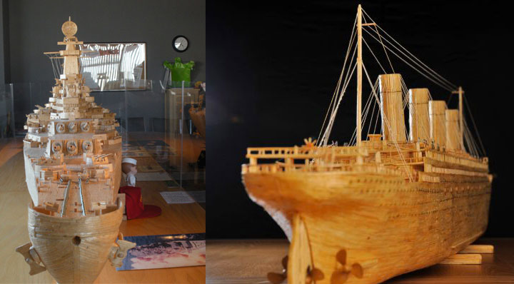 Gigantic Sculptures Made Using Simple Matchsticks-11