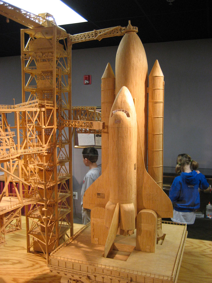 Gigantic Sculptures Made Using Simple Matchsticks-12
